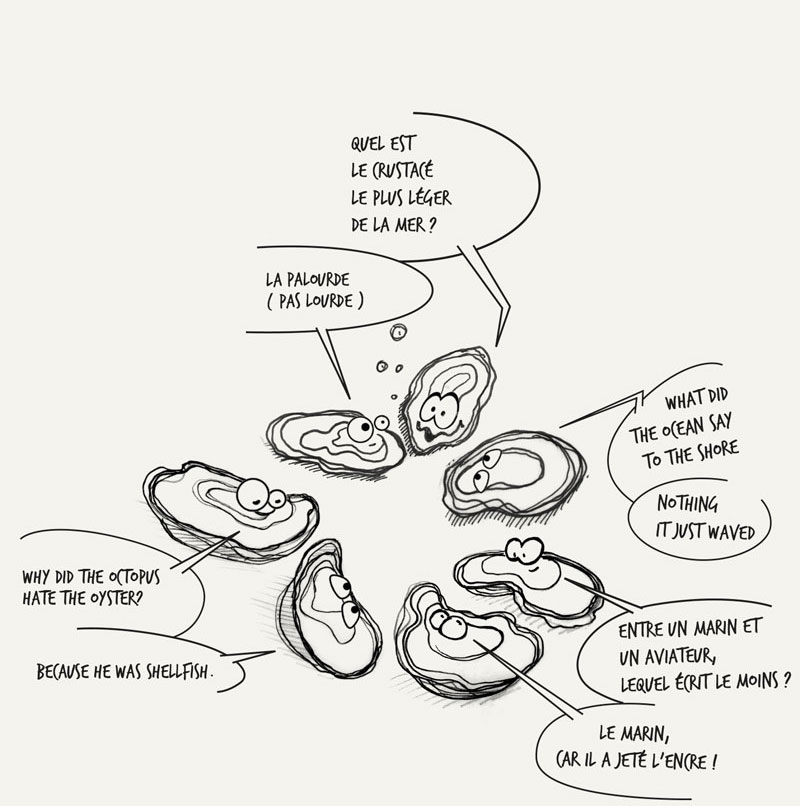 Joke trois huitres