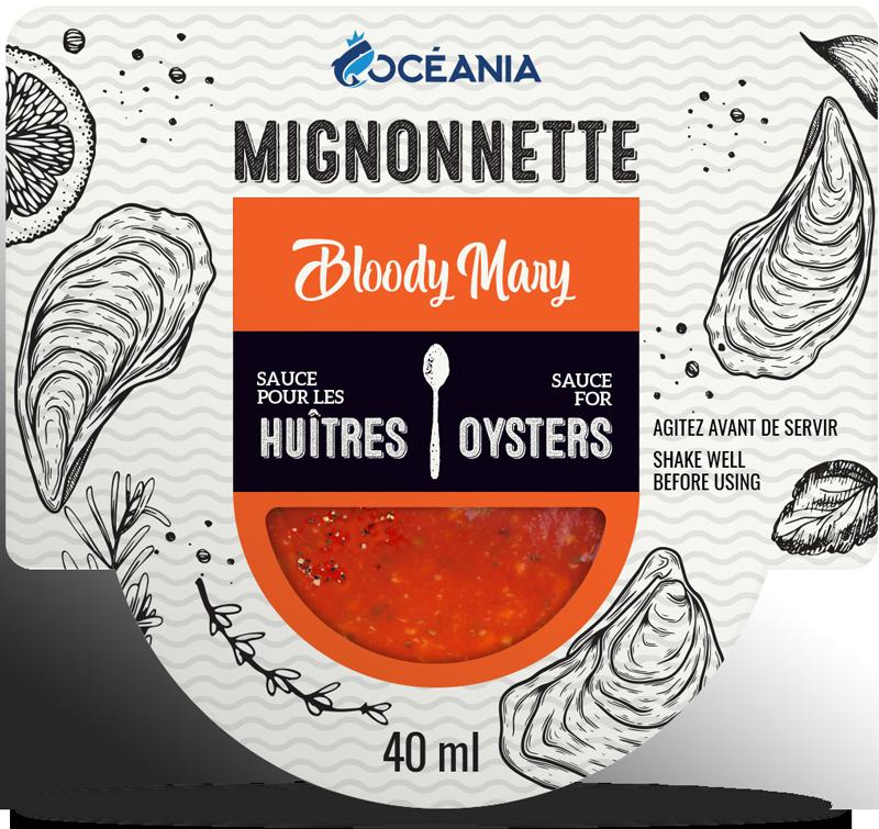 Mignonnette - sauces aux huitres Bloody Mary