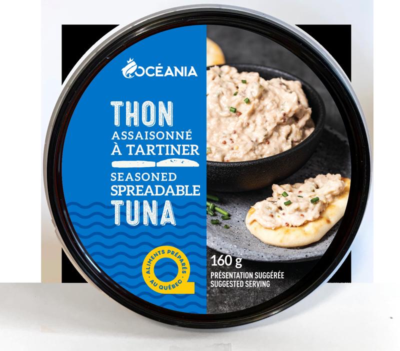Seasoned spreadable TUNA